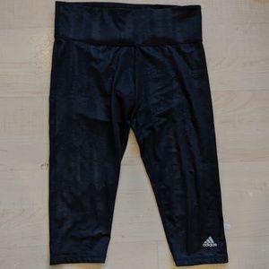 Adidas Black Climalite Cropped Leggings